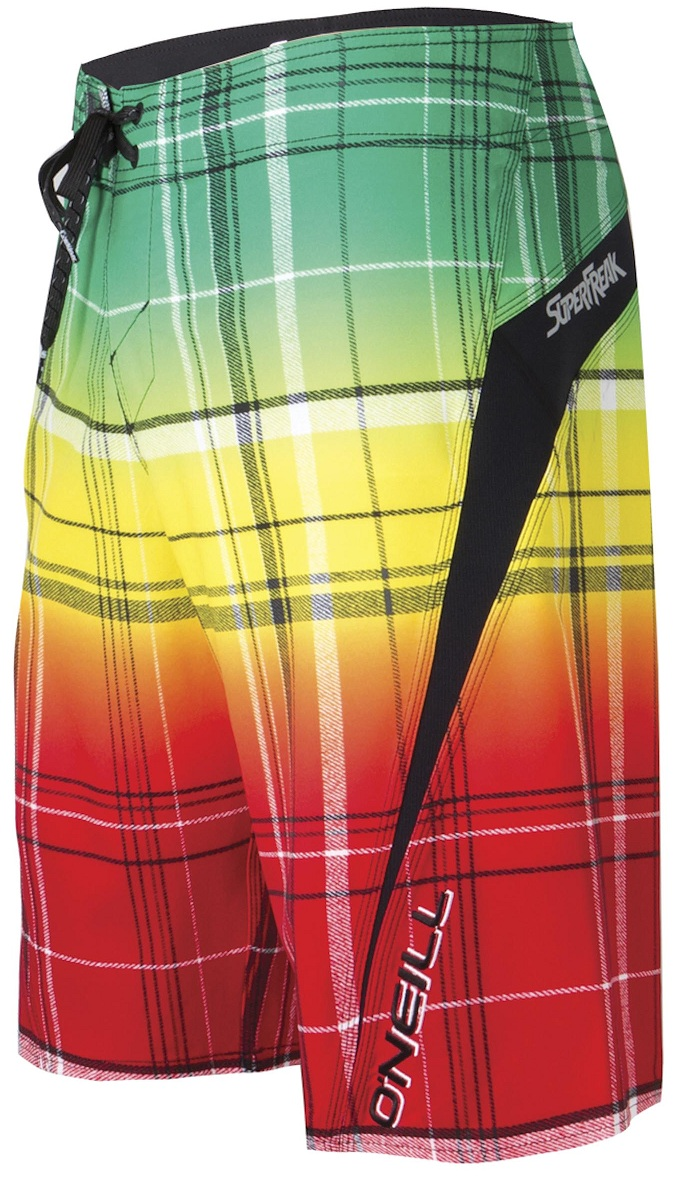 O'Neill Superfreak Board Shorts - Rasta - 4 Way Stretch!