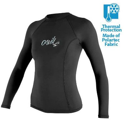 O'Neill Women's Thermo Rashguard Long Sleeve 50+ UV Protection