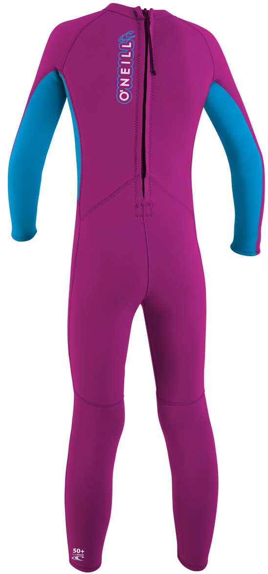 O'Neill Reactor Toddler Full Wetsuit 2mm Kids Wetsuit - Pink - 4301-X05