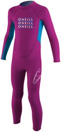 O'Neill Reactor Toddler Full Wetsuit 2mm Kids Wetsuit - Pink -