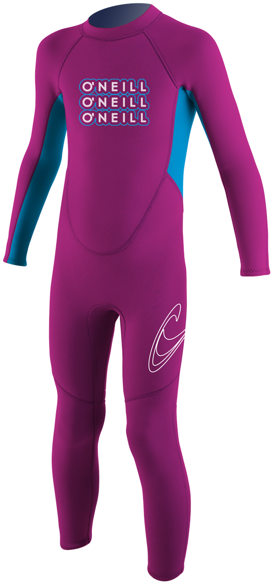 O'Neill Reactor Toddler Full Wetsuit 2mm Kids Wetsuit - Pink