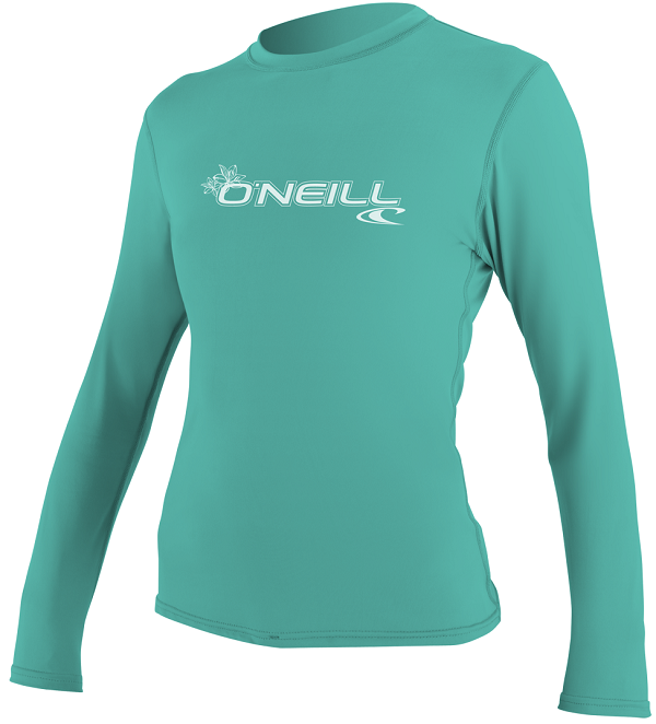 O'Neill Women's Basic Skins Long Sleeve Rash Tee Rashguard 50+ UV Protection -