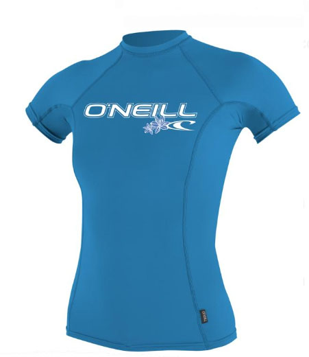 O'Neill Womens Skins Short Sleeve Rashguard 50+ UV Protection - 3548-010