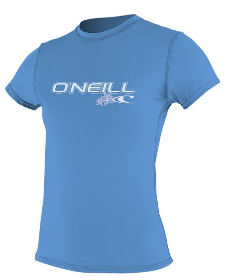 O'Neill Women's Rashguard Rash Tee 50+ UV Protection Blue -