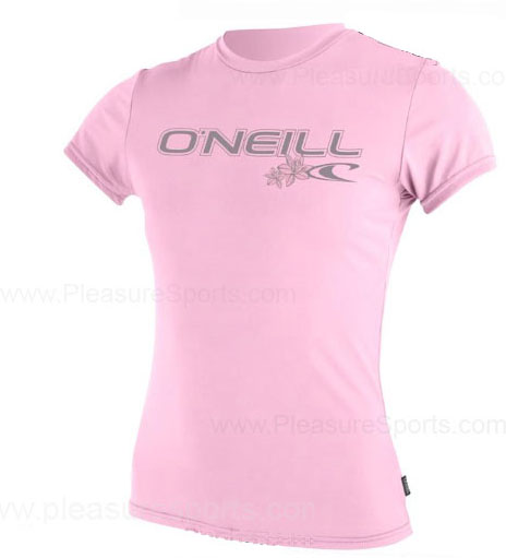 O'Neill Womens Rashguard Rash Tee 50+ UV Protection Pink