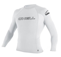 O'Neill Youth Skins Rashguard Kids Long Sleeve 50+ UV Protection - White -