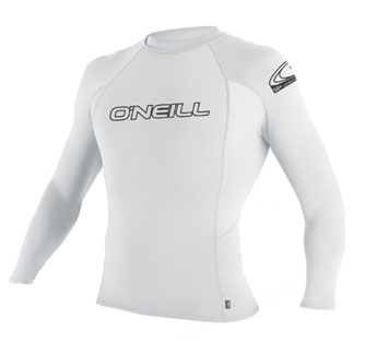 O'Neill Youth Skins Rashguard Long Sleeve 50+ UV Protection - White