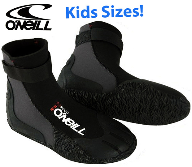 O'Neill Youth Heat 3mm Boot Round Toe Bootie Boys & Girls - 3369-002