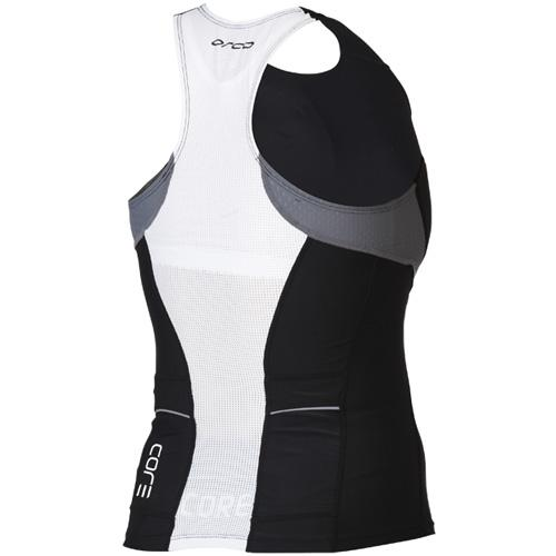 Orca Women's Core Support Singlet Tank - Black/Castle Rock - YVC7