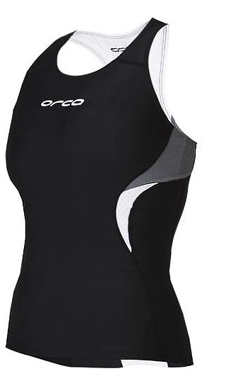 Orca Women's Core Support Singlet Tank - Black/Castle Rock -