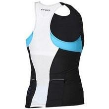Orca Women's Core Support Singlet - Black/River Blue - YVC7BLU
