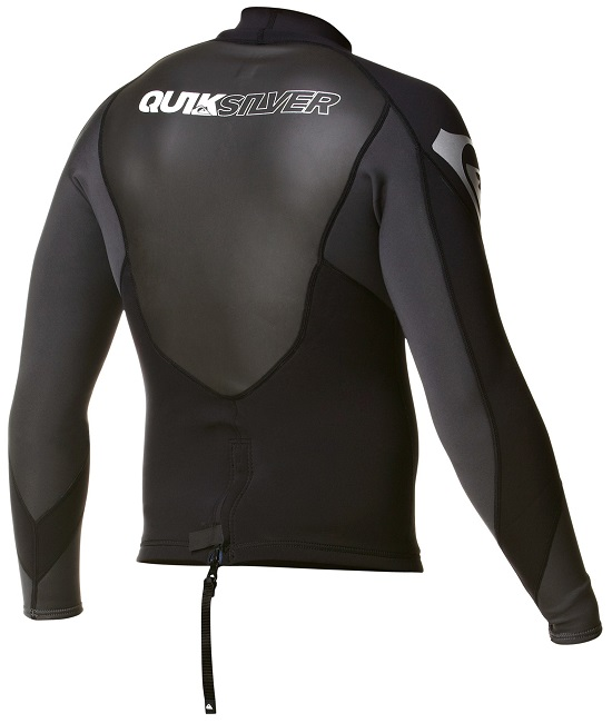 Quiksilver Syncro Jacket Neoprene 1.5mm Black Grey - AQYJL00002-XKKS