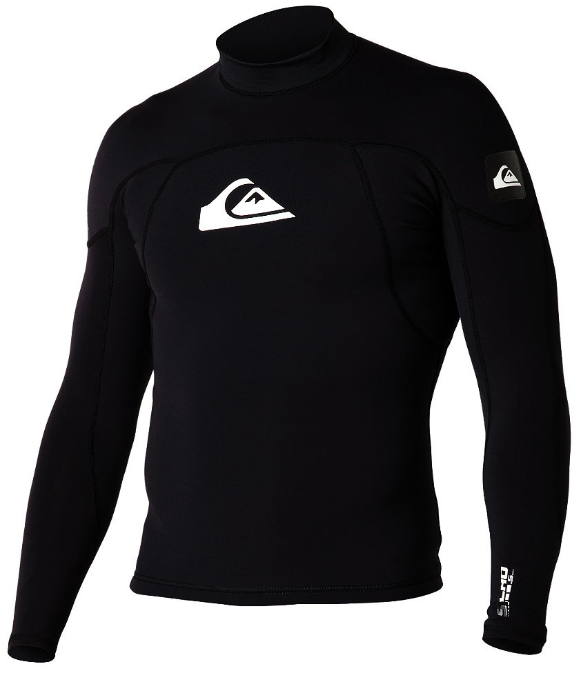 Quiksilver Syncro 1mm Neoprene & Lycra Surf Shirt - SA146MF-BKW