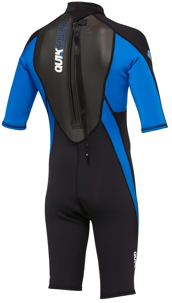Quiksilver Syncro Boys  Girls Springsuit Wetsuit 2mm -Blk/Blue - AQBW500001-XKKP