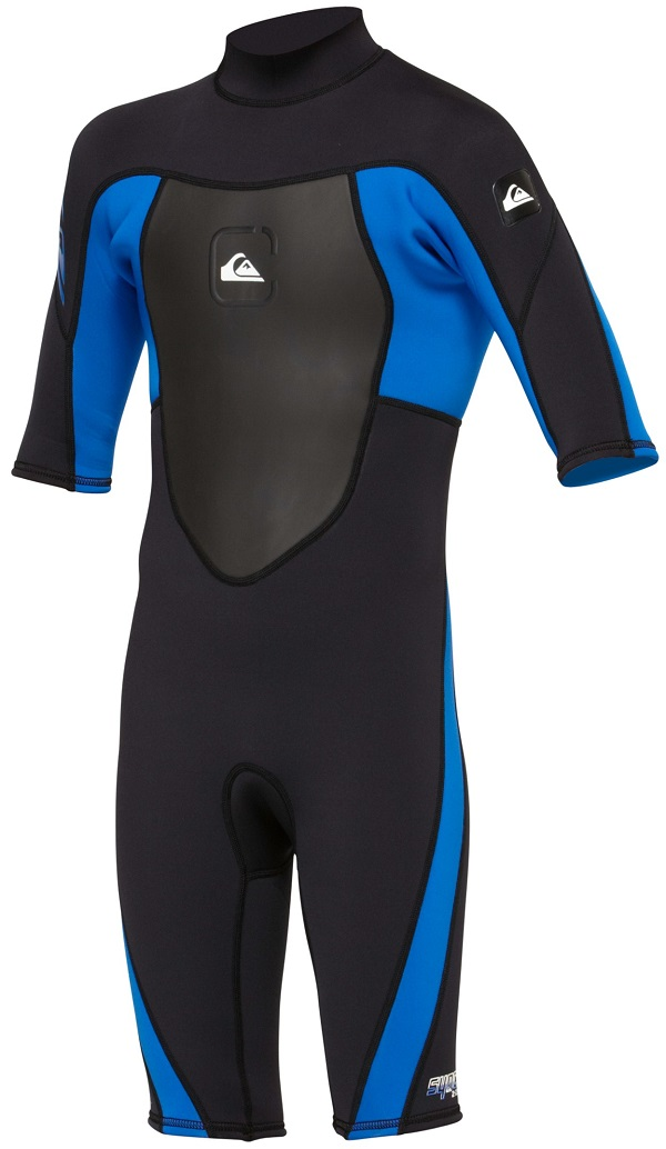 Quiksilver Syncro Boys  Girls Springsuit Wetsuit 2mm -Blk/Blue