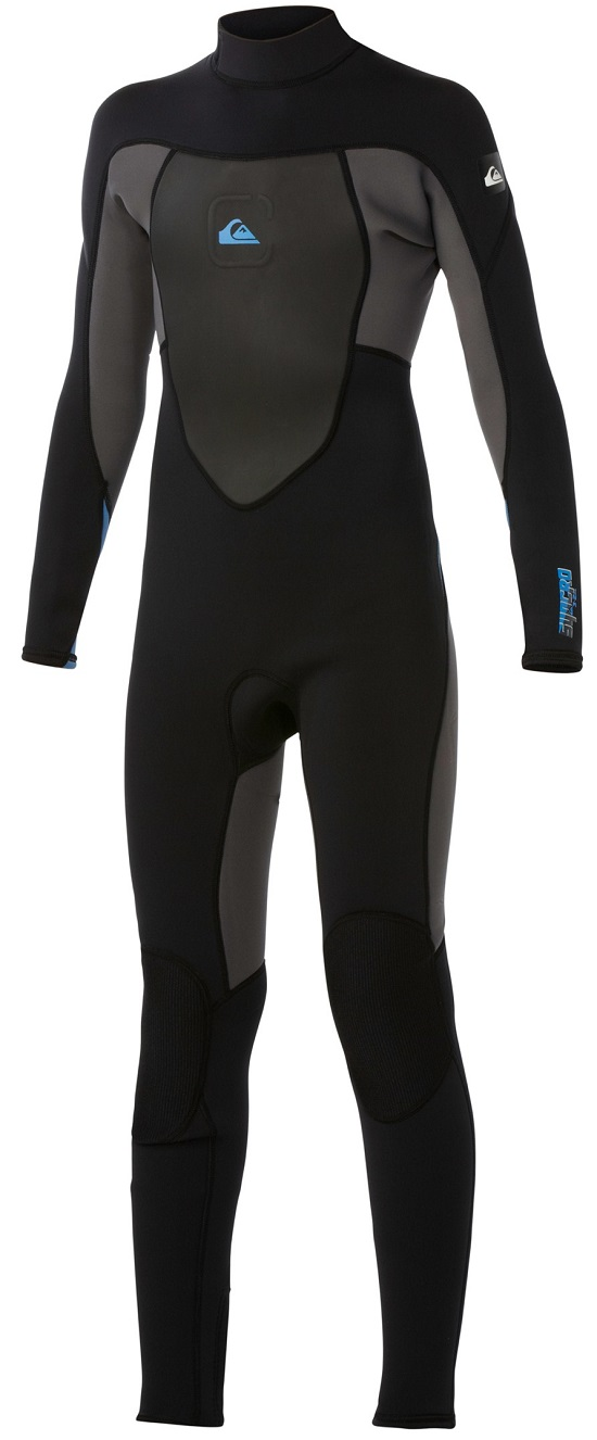 Quiksilver Syncro Wetsuit Boys Youth 3/2mm Syncro Flatlock Back Zip Wetsuit