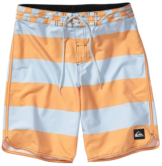 "Quiksilver Boardshorts Brigg Scallop 20"" - Light Blue/Orange"