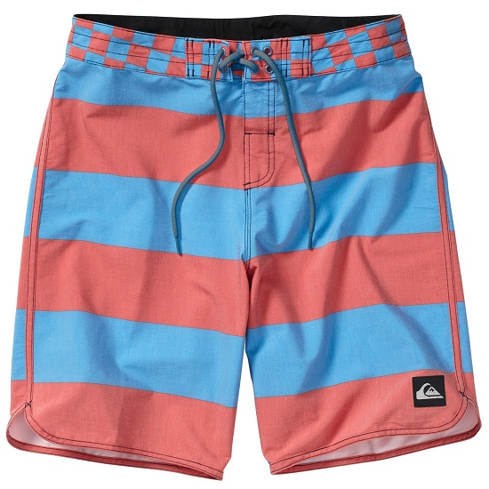 "Quiksilver Brigg Scallop 20"" Boardshorts - Blue/Red"