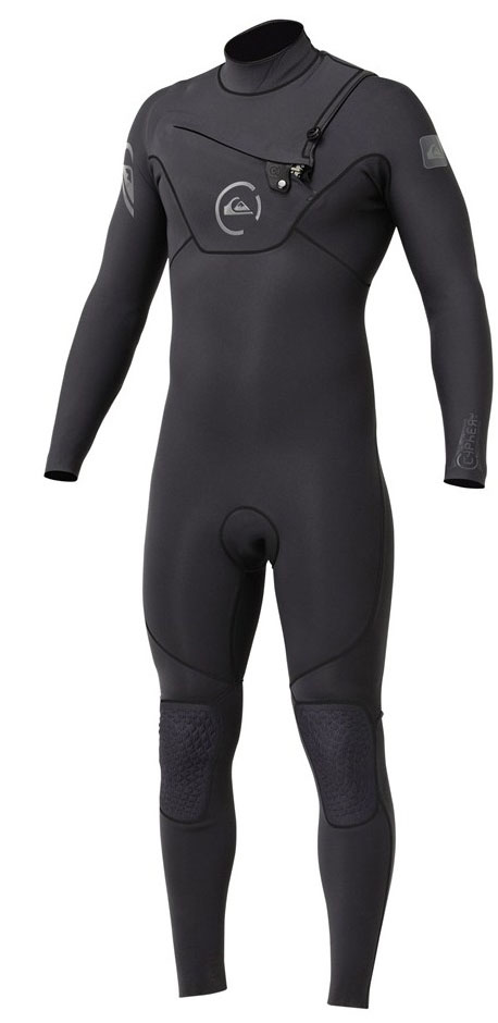 Quiksilver Cypher Wetsuit 3/2mm Monochrome Chest Zip - Grey - CH313MS-GRY