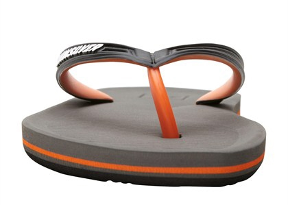 Quiksilver Haleiwa Men's Sandal Flip Flop - Grey/Black/Orange - 857364-GYB