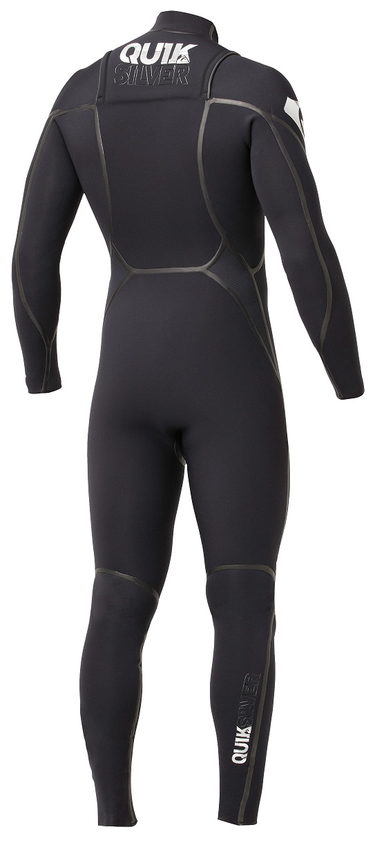 Quiksilver Ignite 4/3 LFS Chest Zip Wetsuit - NEW Model! - IH409ML-BLK