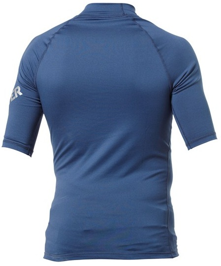 Quiksilver All Time Men's Short Sleeve Rashguard 50+ UV Protection - Navy - AQYWR00000-NVY