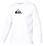 Quiksilver Solid Streak Rashguard Loose Fit Men's Long Sleeve 50+ UV Protection - White - AQYWR00010-WHT