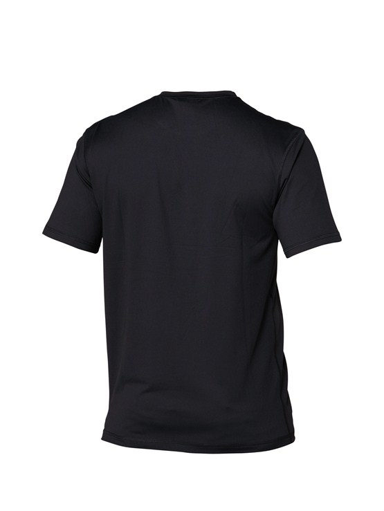 Quiksilver Solid Streak Rashguard Loose Fit Men's Short Sleeve 50+ UV Protection - Black - AQYWR00009-BKW
