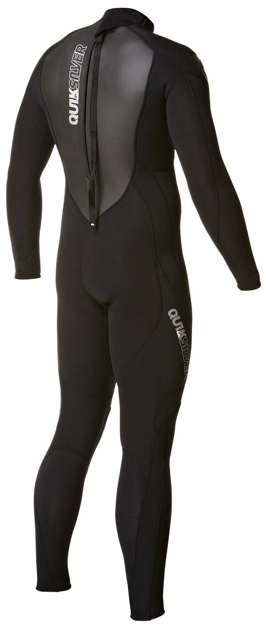 Quiksilver Syncro 3/2mm Flatlock Mens Back Zip Wetsuit Lastest Model! - AQYFL00000-KVD0