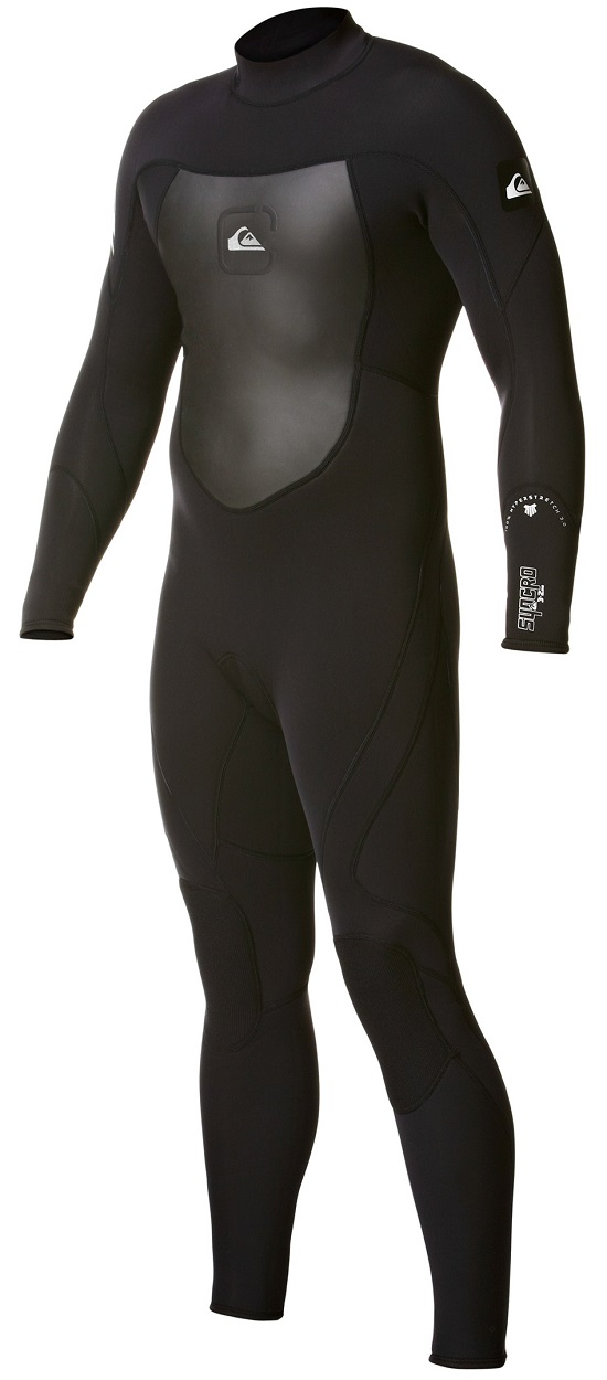 Quiksilver Syncro 3/2mm Flatlock Men's Back Zip Wetsuit