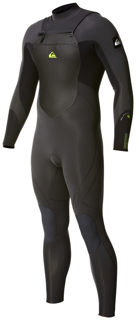 Quiksilver Syncro 3/2 Wetsuit Chest Zip Men's Wetsuit - Grey/Black - New Model!