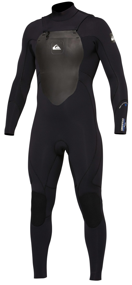 Quiksilver Syncro 4/3 Wetsuit Chest Zip Men's Wetsuit - Black - New Model! - AQYFL00006-KVD0