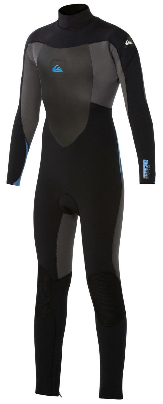 Quiksilver Syncro Boys / Girls Wetsuit 5/4/3mm Youth - Black/Grey/Blue - AQBW103009-XKKB
