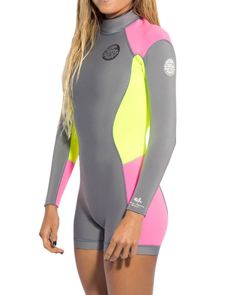 Rip Curl Dawn Patrol Women's Springsuit Long Sleeve 2mm - WSP4GW-GRY