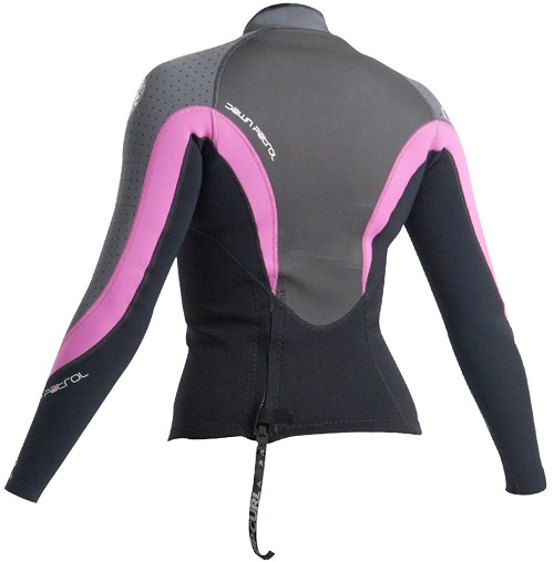 Rip Curl Women's Dawn Patrol 2mm Neoprene Jacket - Blk/Grey/Pink - WVEXAW-BKC