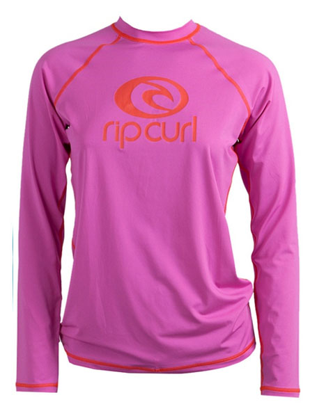 Rip Curl Island Fever  Women's Long Sleeve Rashguard - Rose - WLUXOW-ROS