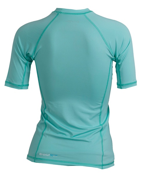 Rip Curl Surf Chica Women's Short Sleeve Rashguard - Ice Green - WLUXFW-ICE