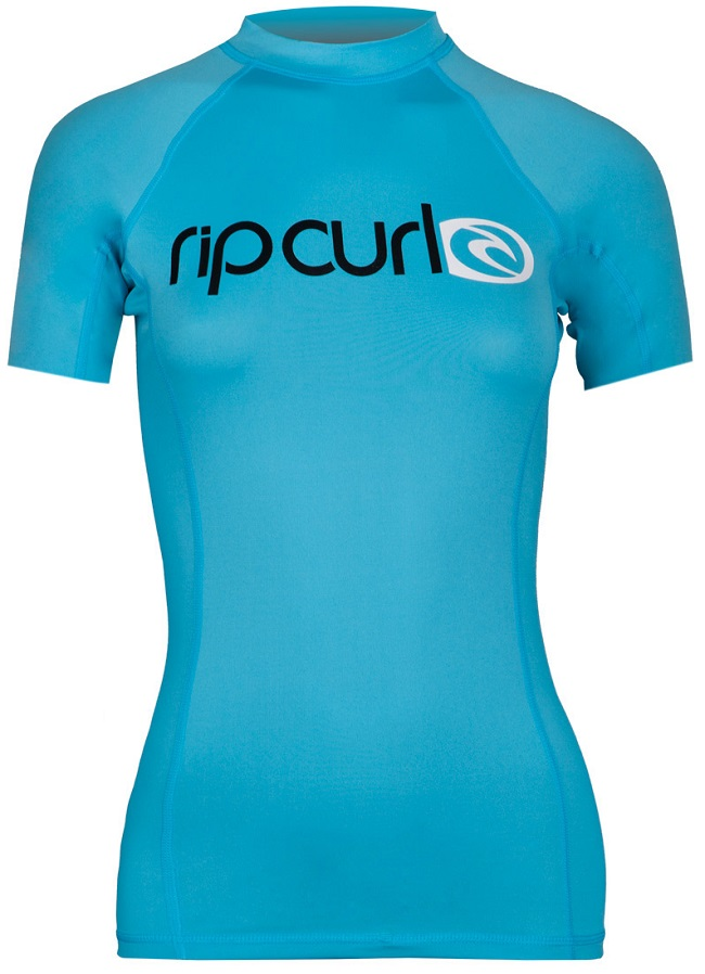 Rip Curl Surf Team Rashguard Women's Short Sleeve 50+ UV Protection - Blue