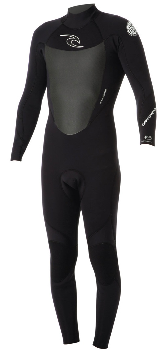 Rip Curl Dawn Patrol Wetsuit Men's Back Zip 4/3mm GBS - Black