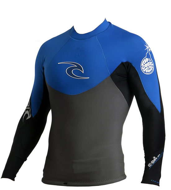 Rip Curl E-BOMB PRO Long Sleeve JACKET 1mm  Blue - WVEXAE-BSB