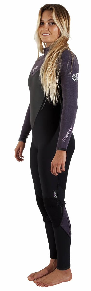 Rip Curl Women's Flash Bomb Wetsuit 3/2mm Chest Zip - Wetsuit of the YEAR! - WSMXAG-BKC