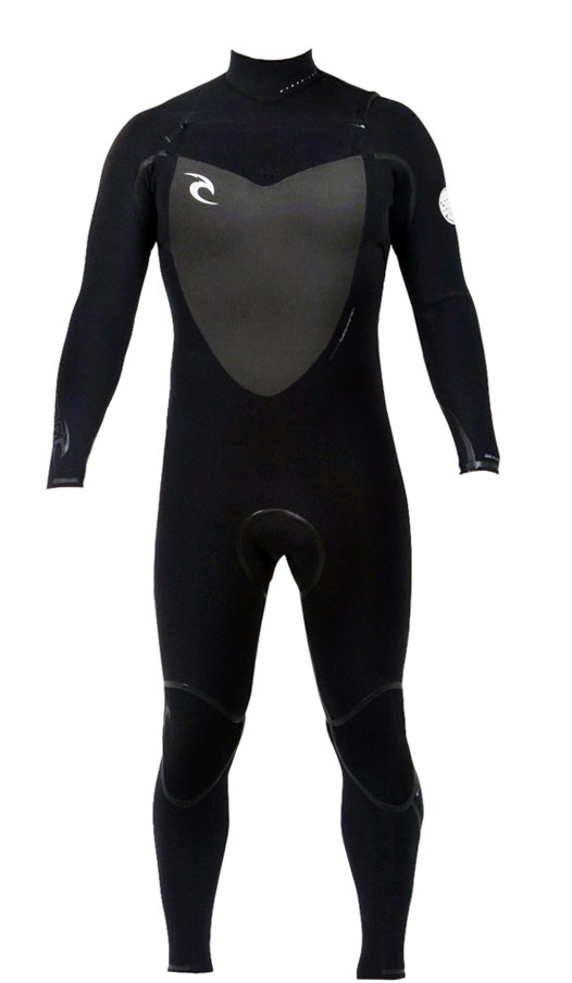 Rip Curl Flash Bomb Wetsuit 4/3mm Chest Zip - Wetsuit of the Year! - WSMOCF-BLK