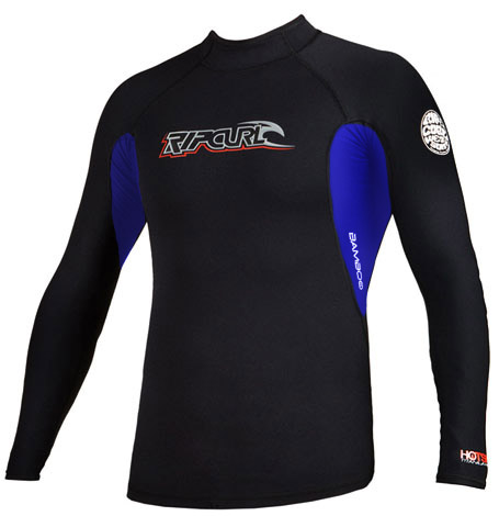 Rip Curl Hotskins Jacket  .5mm Long Sleeve 50+ UV Protection  - Black w/Blue -
