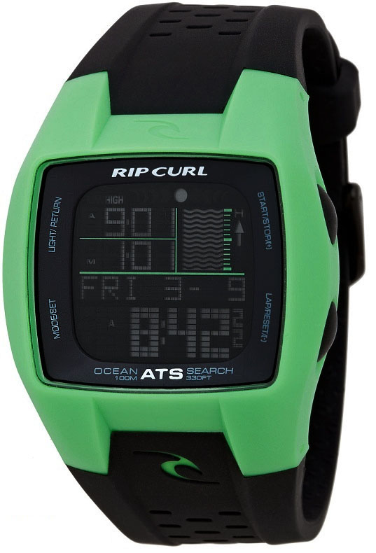 Rip Curl Trestles Oceansearch Tide Watch Green/Black