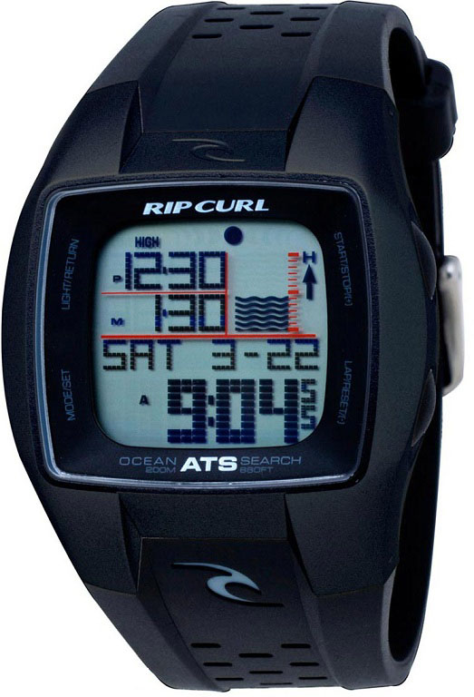 Rip Curl Trestles Oceansearch Tide Watch Black/White