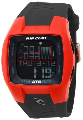 Rip Curl Trestles Oceansearch Tide Watch - Red/Black