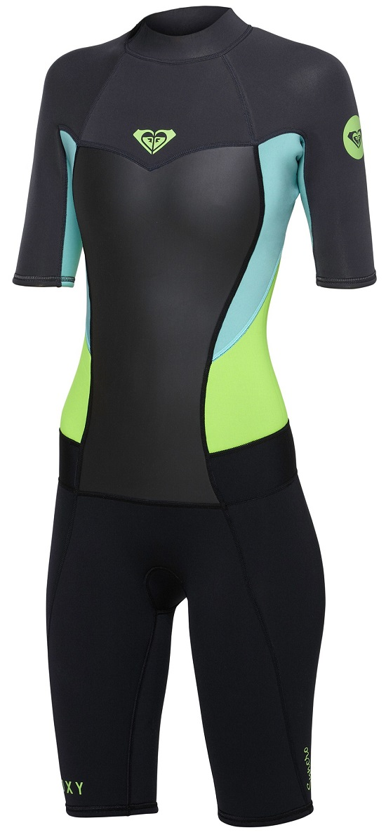 Roxy Syncro 2mm Womens Spring suit - Black/Grey/Green - ARJW500000-XKGG
