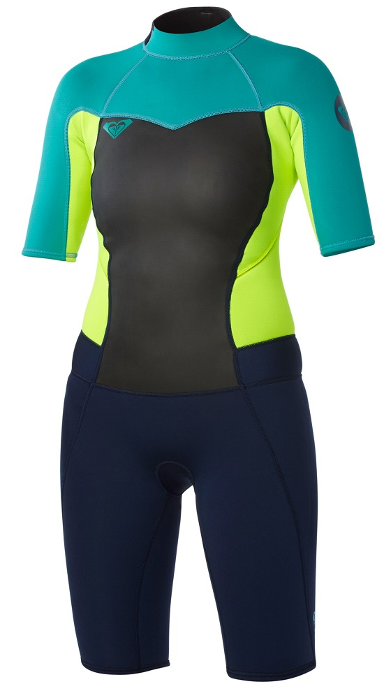 Roxy Syncro Spring suit Womens Wetsuit 2mm - Blue/Yellow/Turquoise