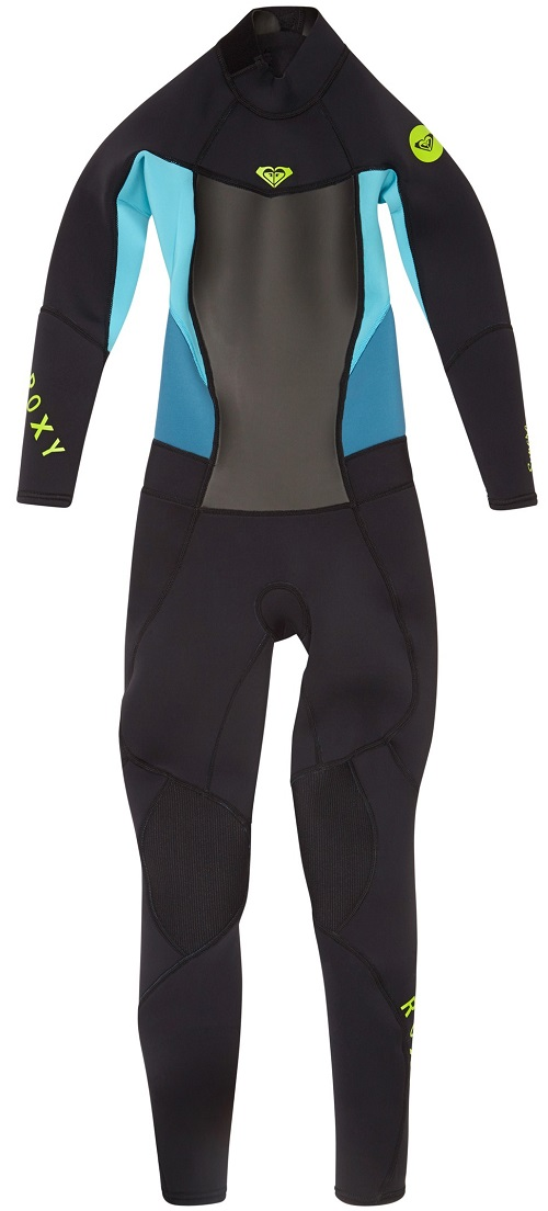 Roxy 3/2mm Syncro Girls Wetsuit 3/2mm Flatlock - Black/Blue - ARGW100001-XKKP