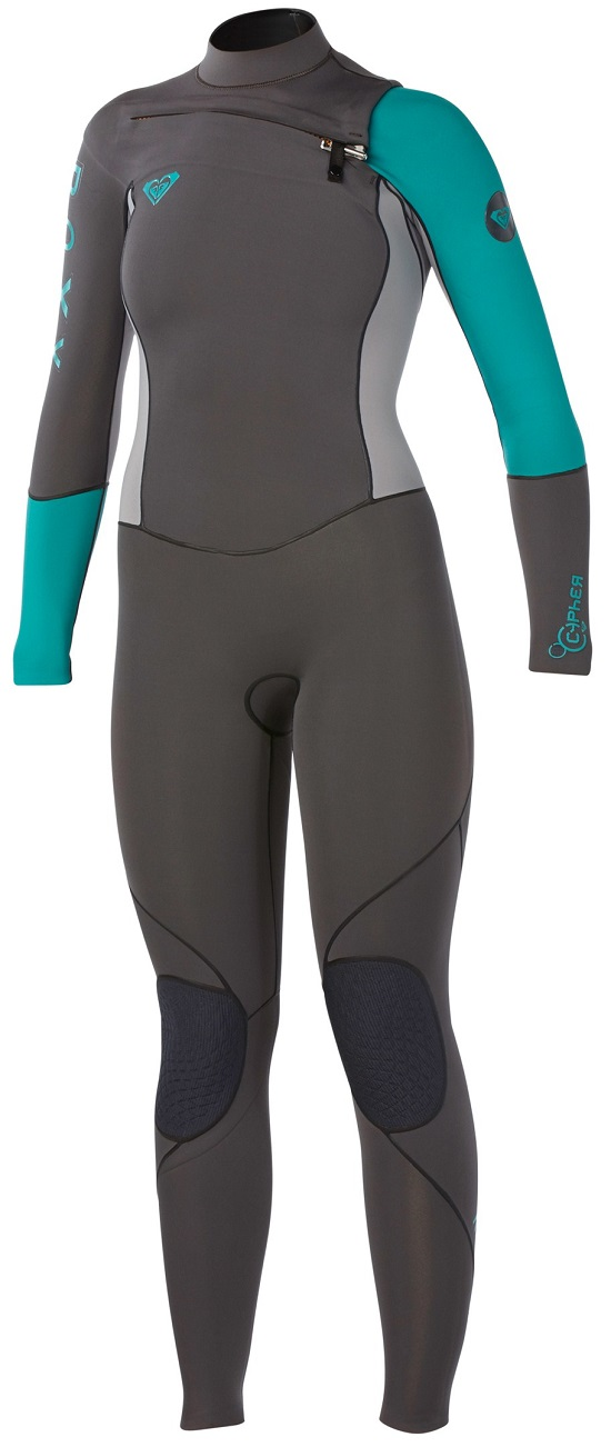 Roxy Cypher Wetsuit 4/3mm Chest Zip GBS Sealed Seams Super Stretch